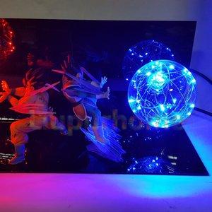 Dragon Ball Z Sangoku Vegeta Super Saiyan Led Lampe Ampoule Anime Enfants Toy Figurines cadeau bricolage Anime Goku Modèle. # Kka