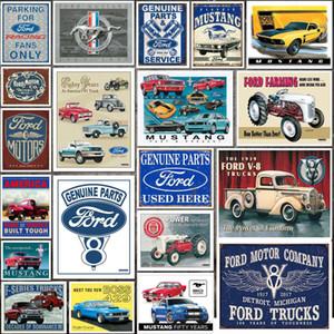 Plaques en métal moderne Plaque voiture classique Ford Mustang Tin Sign Fer Métal Peinture Inscrivez Tin Conseil décorations Pub Retro Bar Garage Tin Poster