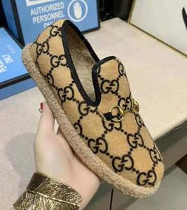 Брендированные Женщины Horsebit Текстурированные Шерстяные Лоферы Ткани Резиновая Подошва Плоская Домашняя Обувь Deisgner Lady Check Tweed Walking Loafer