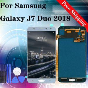 """5.5"""" Orijinal İçin SAMSUNG GALAXY J7 Duo 2018 J720 J720F J720DS LCD Ekran Dokunmatik Ekran Sayısallaştırıcı Meclisi Değiştirilmesi"""