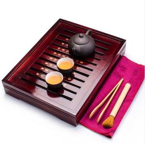 كأس الشاي الصينية مجموعات الخشب علبة شاي بيربل كلاي ابريق الشاي 2 فناجين الخزف حفل TeaTools الشاي الصين الكونغ فو Teaset