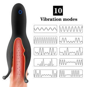 Guimi Oyuncak Modları Vibratör Eğitmen Mastürbasyon Masajı Glans Glans Teşvik Glans Egzersiz 2.0 Seks 10 Penis Erkek Meme Titreşimli MX191228 PLWX