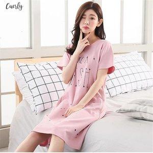 Night Cartoon Dress Women Sleepwear Plus Size 5Xl Ladies Nightwear Kawaii Women Nightgown Homewear New Summer Home Dress Nightie