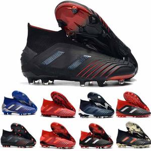 Sıcak Predator 19 + Predator 19 FG PP Paul Pogba futbol 19 cleats Kayma-On futbol çizmeler mens yüksek top futbol ayakkabı ucuz