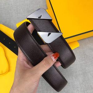 Cinture di design Cinture di lusso Cintura da uomo per donna Famosa marca Casual Piccola mostro Fibbia liscia Cintura in pelle 2 Colori Larghezza 34mm Alta qualità