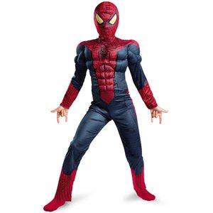 Bambino del ragazzo Amazing Spider-boy Movie carattere muscolare Classic Marvel Costume Fantasy supereroe Halloween Carnival Party