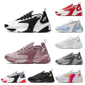 Nike M2K Zoom Sıcak M2 k Tekno Zoom 2 K Erkek kadın Koşu Ayakkabıları Üçlü Siyah Beyaz Yarış Kırmızı Kraliyet Mavi Spor Sneakers Erkek Eğitmenler boyutu 36-45