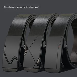 Toothless automatic buckle men's genuine leather pure cowhide Toothless automatic buckle men's genuine leather belt pure cowhide belt