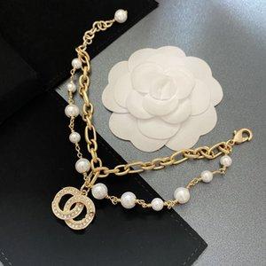 New fashion designer women's bracelet various styles letter pearl with diamond bracelet fashion hip hop Bracelet classic charm gift