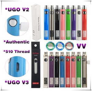 UGO V3 V II EGO T Passthrough E Cigarro Vape Mod Variável Tensão Da Bateria 650 900 mAh eCigs Carregador eVod Pré-aquecer Vaporizador Pen