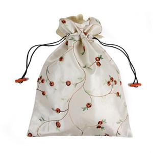 Sacchetto di immagazzinaggio tradizionale cinese Sacchetto di immagazzinaggio coulisse Embroiderd Sacchetto di scarpe di seta Highheel Borse Sacchetto 27 * 37cm