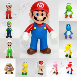 12 Estilo de brinquedos Super Mario Bros jogo 2019 New animados Mario Luigi Yoshi princesa Action Figure Toys presente para o miúdo