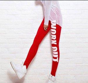 2019 Frühling und Herbst Neue Sportart für Frauen Yoga Hose mit Alphabet bedruckter Baumwolle neun Score Unterhosen