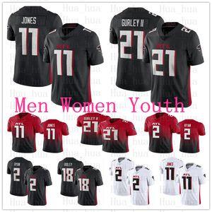 2020 New Men mulheres Atlantajuventude Falcon21 Todd Gurley II 2 Matt Ryan 11 Julio Jones Ridley branco preto vermelho do futebol Jersey