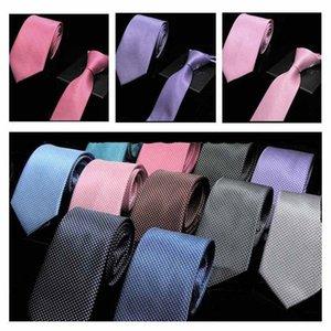 MENS ADULTO ACCESSORI NEWS modo del collo del cravatte di colore sette centimetri Tie Solid Cravat Cravatta Set Cravatte partito regalo Camicia CA63