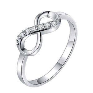 Nouveau argent 925 Infinity Forever Love Annulaire femmes fille S925 bijoux en argent cadeau de mariage