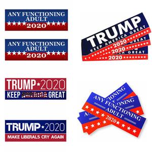Trump 2020 Araç plakası 10pcs / lot Amerika Büyük Başkan Genel Seçim Araç Paster Autocar Dekorasyon Tampon Çıkartmaları LJJA3764-13 tutun