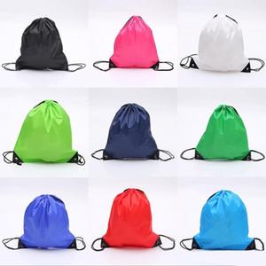 High Quality Nylon Drawstring Bag Beach Women Men Travel Storage Package Teenagers Backpack dc194