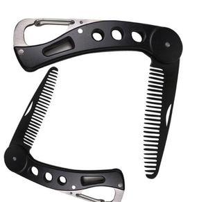 Nouvelle Beauté Barbe en acier inoxydable peigne pliable redressage peigne Barbe Homme Styling outil portable de haute qualité pratique Inoffensif