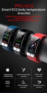 E66 Smart Watch ECG Temperature Measuring Heart Price Blood Price Price Wristband Health Writture Smart Band