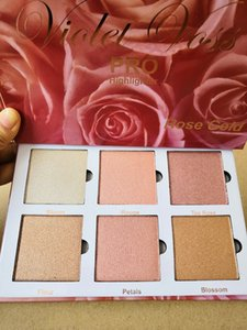 Hot Sale Cosmetics Violet Voss Rose Gold Highlighters Makeup 6 Colors Highlight Palette DHL free shipping