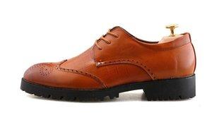 Резной Формальной Mens платье обуви кожа черного BROGUE Квартира Свадебных офиса Oxfords обувь для мужчин, Lace Up Заостренной