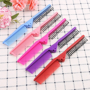 100 lot Foldable Hair Comb Portable Travel Hair Brush 2 in 1 Comb Tooth Hairbrush Folding combs Anti-static Hair Brush