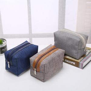 Moda taşınabilir kozmetik çantası Basit kare torba Depolama Özelleştirilmiş logo Fermuar çanta Ev Mobilya moda Commute