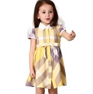 أزياء الأطفال ملابس الطفل تنورة 2019 الصيف الفتيات قصيرة الأكمام فستان الأميرة اللباس أطفال فساتين القطن العلامة التجارية شحن مجاني