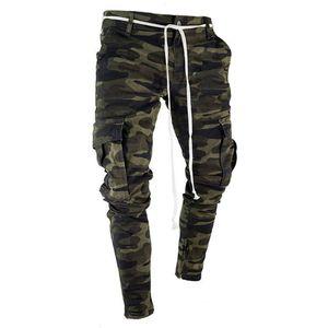 Womail Mens Skinny Stretch Calças Jeans Plissado Rasgado Freyed Slim Fit Calças Jeans Calças de Moda Magro jeans M301204