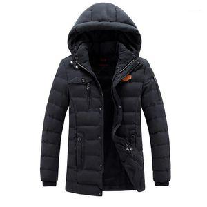 Color Brief Casual Clothes Mens Designer Thick Parkas Hat Detachable Fashion Mens Warm Winter Jacket Solid