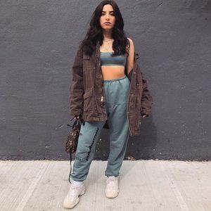 6 cores Kanye West Temporada 6 Calabasas Pants Mens Hip Hop moda algodão solto feixe listrado Streak Oversize Season6 Sweatpants M-XL 77tQGyE #