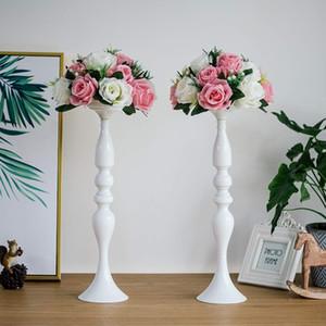 ERMAKOVA Candle Holders Wedding Vase Party Flower Rack Center Ornament Candlestick Column Restaurant Hotel Decoration