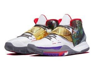 بنين Kyries 6 هيوستن الاطفال مبيعات حذاء كرة السلة مع صندوق حار 6 من الرجال والنساء حذاء تخزين الشحن المجاني US4-US12