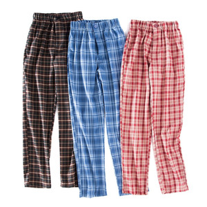 the spring and autumn women's BM restore ancient ways of tall waist grid leisure trousers of straight women's pants