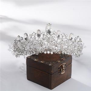 Bride Crown Kopfschmuck 2020 Prinzessin Haar-Verzierung europäischen und amerikanischen Luxus-handgemachtes Kristall Super-Unsterbliche Ehe Schmuck Haar-Band