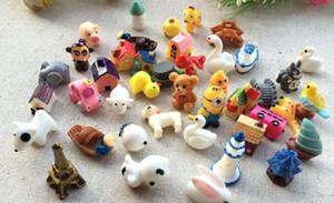 Decoraciones de jardín Animal Cartoon Animal House Resin Craft Mix Resina Cabochons Decoración para el hogar Micro Landscape Fairy Garden Miniaturas