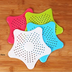 Bathroom Star Hair Filter Sink Drain Stopper Anti-clogged Floor Sewer Outfall Hair Filter Colanders Strainer Supplies 1200pcs IIA165