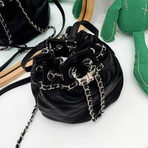 Zincir Omuz Çantaları Çanta Debriyaj Yüksek Kalite En Çok Satan Elmas Kafes Kadınlar Mini Kepçe Çanta İpli Düz Siyah