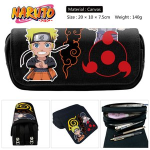 Naruto Uzumaki Cosplay Student School Stationery Bag Canvas Pen Pencil Case Cosmetic Makeup Bag Gift