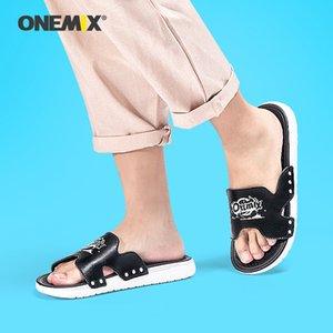 Onemix Loisirs tendance masculine de sport en plein air sandales mode Slipper maison chaussures antidérapantes plage hommes taille été us6.5-11