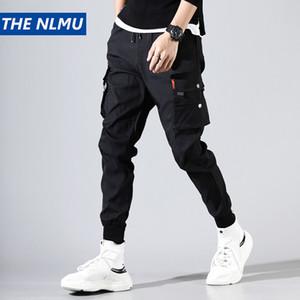 Мужские брюки карандашные мужчины бежены пробежки на лодыжку грузовой уличной улице 2021 модные брюки твердого цвета брюки HD026