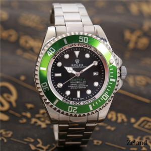 Reduziert 40mm Fashion Men Big Uhr grün Edelstahl-Qualitäts-Mann-Quarz-Uhren Mann Marken-Armbanduhr Silber / Gold Freies shippingi