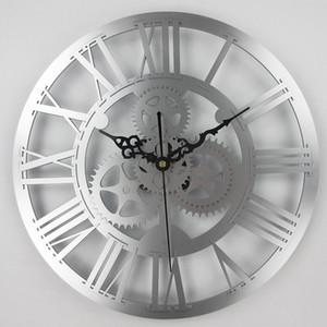 engranajes antigua europea reloj de pared de cambios mecánica de época de gran pared para el hogar del arte de la decoración de la sala de estar