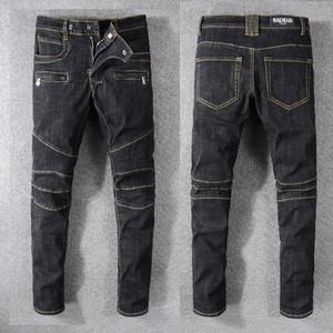 Lüks Erkek Kot Moda Klasik Düz Kot Pantolon Erkek Tasarımcı Denim Kot Sıkıntılı Biker En Kaliteli Marka Kot Yırtık