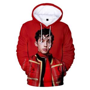Troye Sivan 3D del diseñador sudaderas pares de la manera del otoño del resorte de la manga hoodies flojos ropa de cuello redondo suéter ropa ocasional