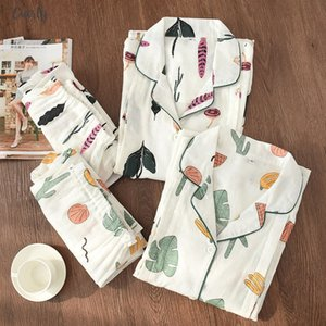 Cotton 100% Thin Maternity Wear Women Pajamas Set Loose Breastfeeding Clothing Cartoon Sleepwear Autumn Plus Size Pajamas