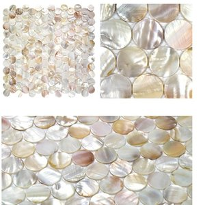 Penny Round Shell Mosaic Oyster Mother Of Pearl Tiles Decoration Wall Bathroom Kitchen Backsplash Wall Sticker