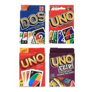 jeu de cartes UNO flip jeu de plateau DOS sauvage édition party joueurs 2-9 jeu Entertainm