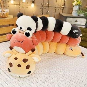 Nuevo colorido Caterpillar peluche Animal transformar muñeca de dibujos animados de peluche Panda ciervo cangrejo sofá almohada cojín bebé apaciguar regalos 20170632